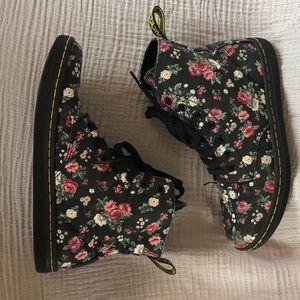 Floral Dr. Marten Canvas Boots